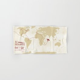 World map, safe travels Hand & Bath Towel