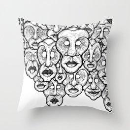 Face Space Throw Pillow