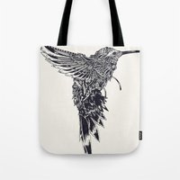 plain Tote Bags featuring HummingBird Plain by efan