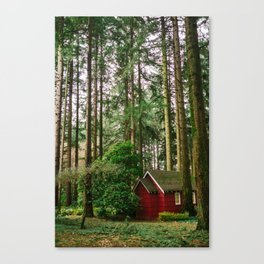 Cabin // Woods Canvas Print