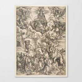Albrecht Dürer - The Beast with Seven Heads (1511) Canvas Print