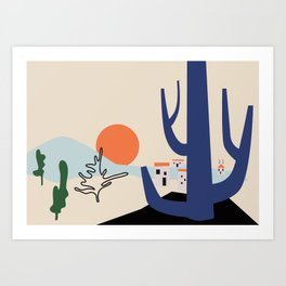 Morning in the valley Art Print