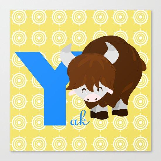 y for yak Canvas Print