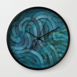 'Careful Where You Stand, In Aquamarin' Wall Clock