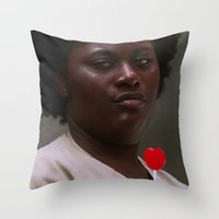 oitnb Throw Pillows featuring Taystee, OITNB by sinika