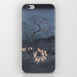 Utagawa Hiroshige - New Year's Eve Foxfires at the Changing Tree iPhone Skin