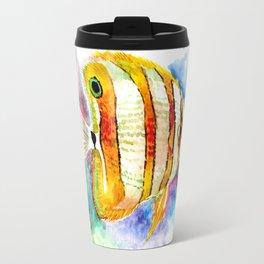 Coral Aquarium Fish, Angelfish Travel Mug