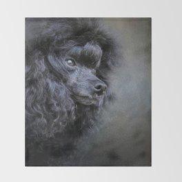 Snack Spotter - Black Toy Poodle Throw Blanket