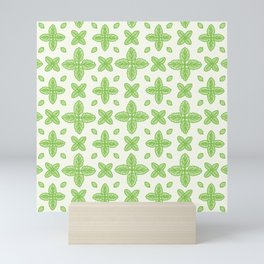 Scalloped Leaf Pattern Mini Art Print