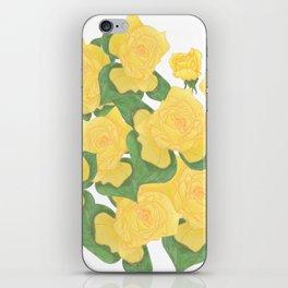 Yellow Rose Bouquet Digital Drawing iPhone Skin