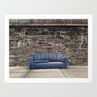 sofa Art Prints featuring sofa free by danielle marie