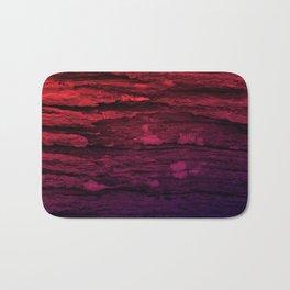 Red & Purple Wood Tree Bark Grunge Bath Mat