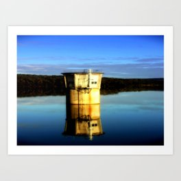 Reflections of a water Tower Art Print
