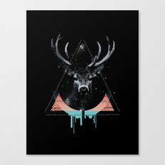 The Blue Deer Canvas Print