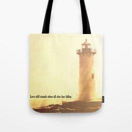 Love Still Stands Tote Bag