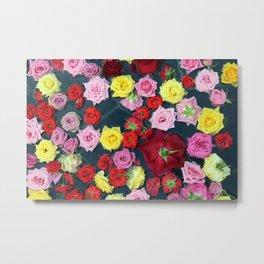 Onsen Roses Metal Print