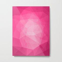 Geometric Polygonal Pattern 08 Metal Print