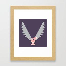 Letter V // Animal Alphabet // Vulture Monogram Framed Art Print