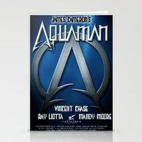 aquaman Stationery Cards featuring Aquaman Replica Movie Poster by cwaldau