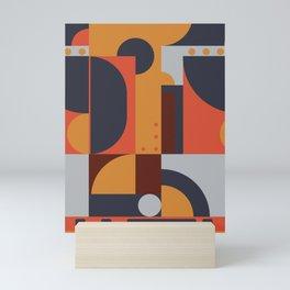 Geometric Pattern (hot and cold) Mini Art Print