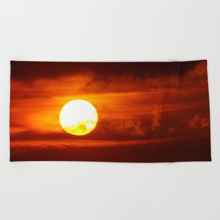 The Blood Moon Beach Towel