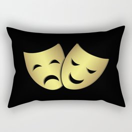 Theater masks: happy and sad faces Rectangular Pillow