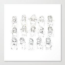 Kristen Stewart Sketches Canvas Print