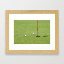 Golf Pin Framed Art Print
