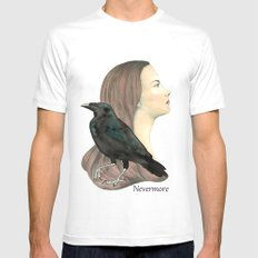 Nevermore Mens Fitted Tee White MEDIUM