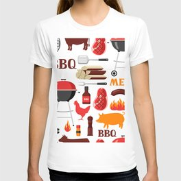Grilling Season 4th Of July Texas BBQ Print T-shirt