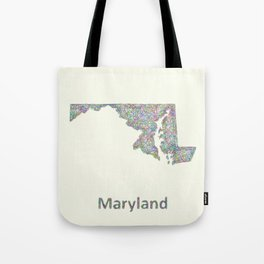 Maryland map Tote Bag