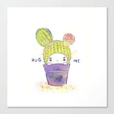 the secret wish of a cactus Canvas Print