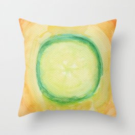 A piece of cucumber Throw Pillow