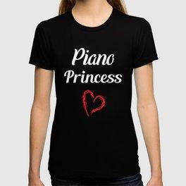 Piano Princess Professional Musician Heart T-Shirt T-shirt