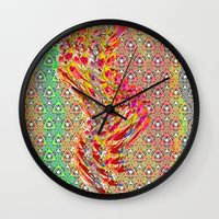 wizard Wall Clocks featuring Wizard by elikourY