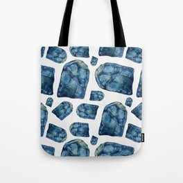 Alexandrite Birthstone Watercolor Illustration Tote Bag