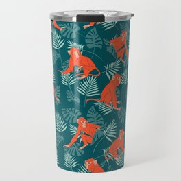 Monkey Forest Travel Mug