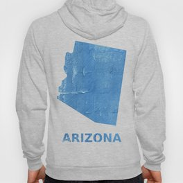 Arizona map outline Blue Jeans watercolor Hoody