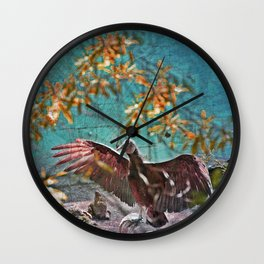 Vulture Rise of the Fire Wizard Wall Clock