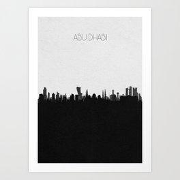 City Skylines: Abu Dhabi Art Print