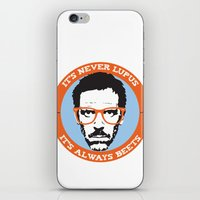 house md iPhone & iPod Skins featuring HOUSE MD: IT'S NOT LUPUS, IT'S BEETS by MDRMDRMDR