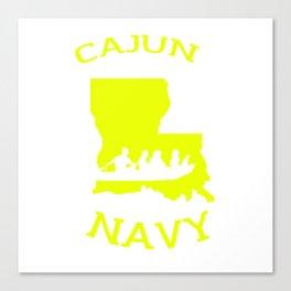 Cajun Navy Shirt Canvas Print