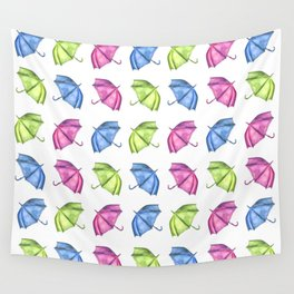 Colorful Umbrella Pattern Wall Tapestry