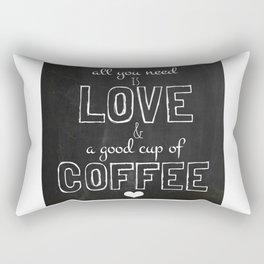 Love and coffee Rectangular Pillow