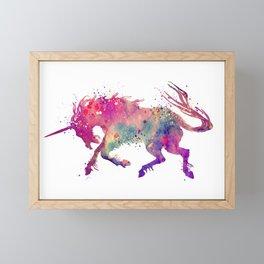 Unicorn Art Colorful Watercolor Art Gift Unicorn Gifts Fantasy Art Rainbow Art Framed Mini Art Print