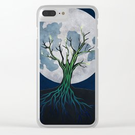 Meditation on a Sap Moon Clear iPhone Case
