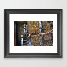 Gum Wall Gnome- Seattle Framed Art Print