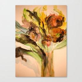 Bouquet #1 Watercolor Canvas Print