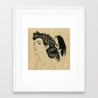 helen green Framed Art Prints featuring Helen by Emmy Wong