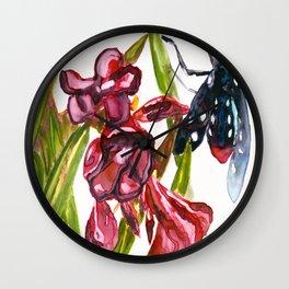 Oleander Wasp Moth Study Wall Clock